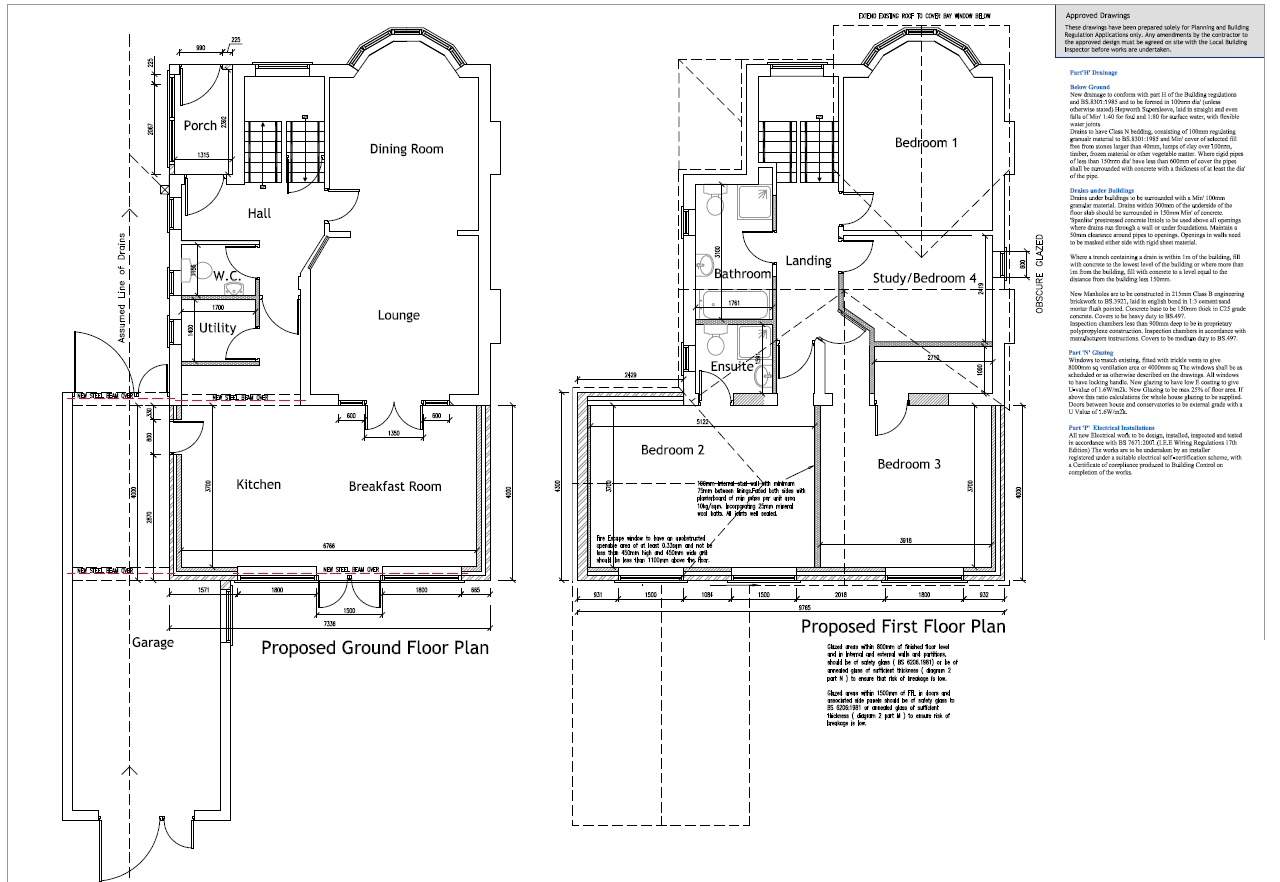 kitchen extension floor plans example drawings easyplan redditch and bromsgrove 4746